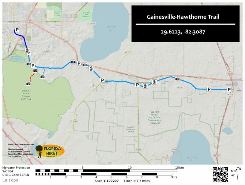 Gainesville Hawthorne Trail Map