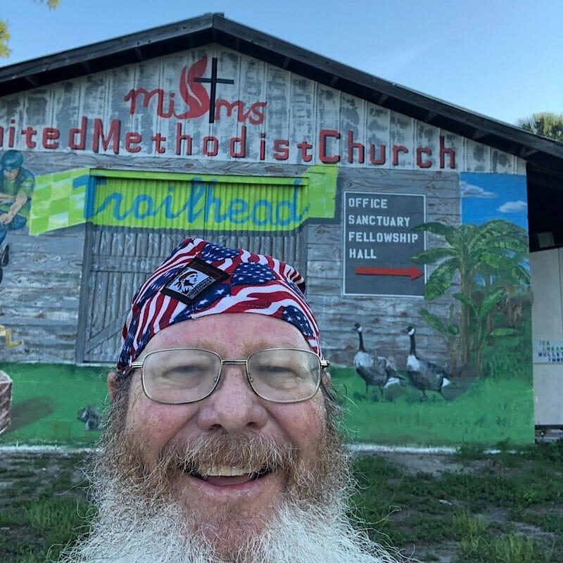 Mims United Methodist Church mural