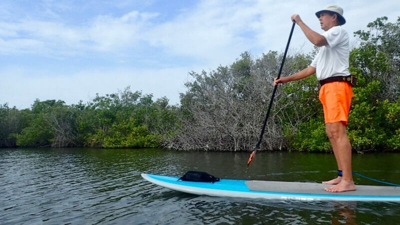 Paddleboarding on the Banana River