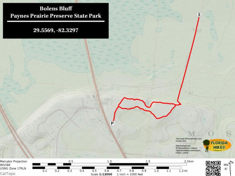 Bolens Bluff Trail Map