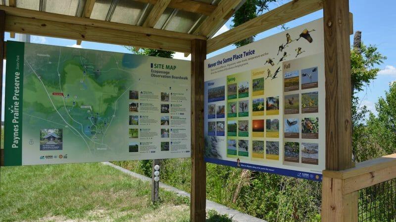 Paynes Prairie Ecopassage kiosk