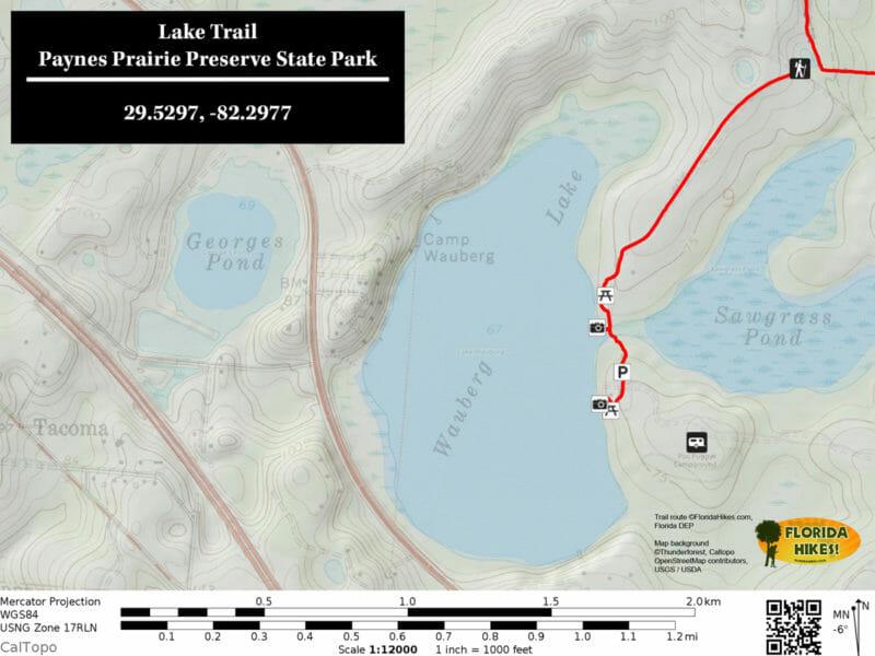 Paynes Prairie Lake Trail Map