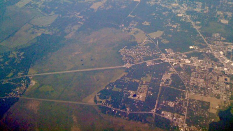 Paynes Prairie from the air