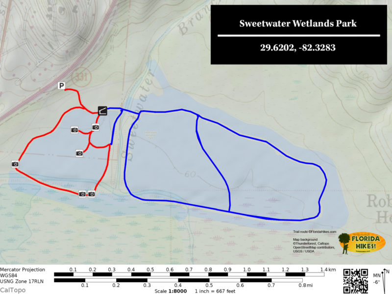 Sweetwater Wetlands Park Trail Map