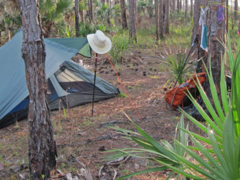 Tent camping Ocean to Lake Hiking Trail