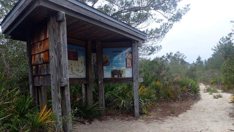 Trailhead kiosk at Pats Island
