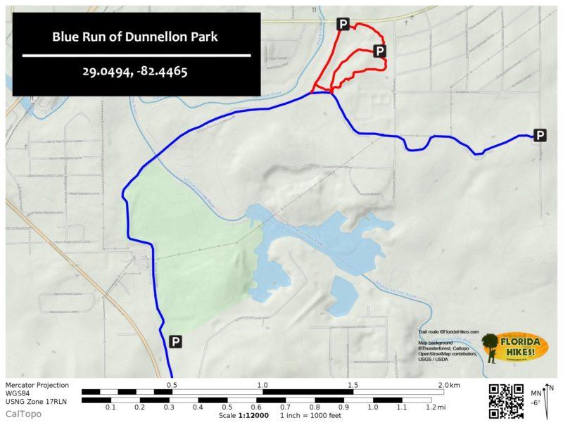 Blue Run Park TRAIL MAP