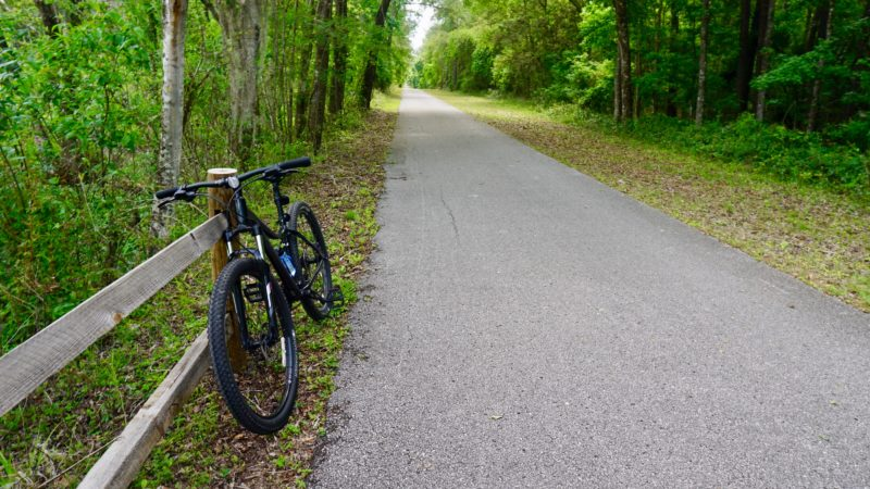 Mountain bike on Gainesville Hawthorne Trail