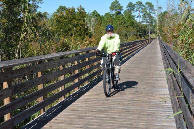 Biking at Gulf State Park