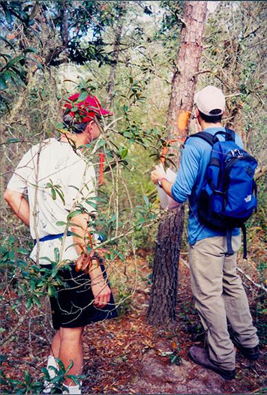 Bob Jones and student volunteer, 1999