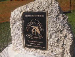 Florida Trail Southern Terminus marker installed