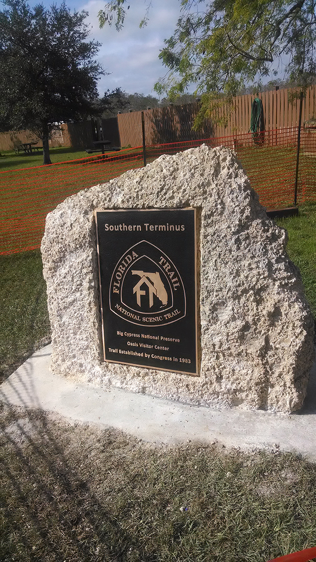 FT Southern Terminus marker