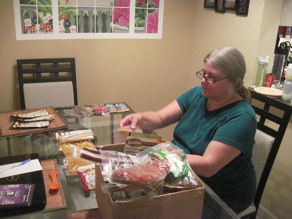 Sandy preps meals for the AT