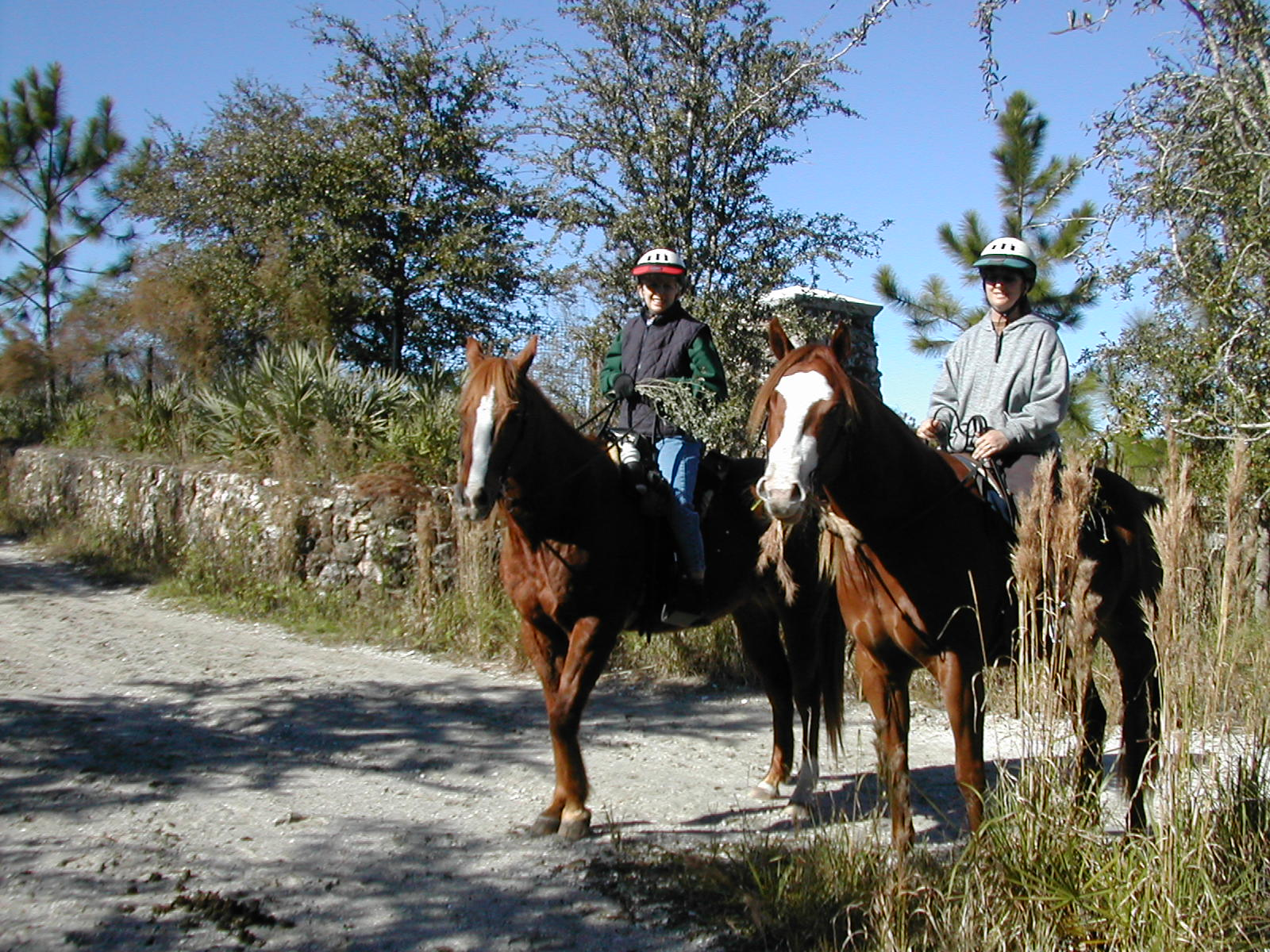 Equestrians on the east approach, 2004