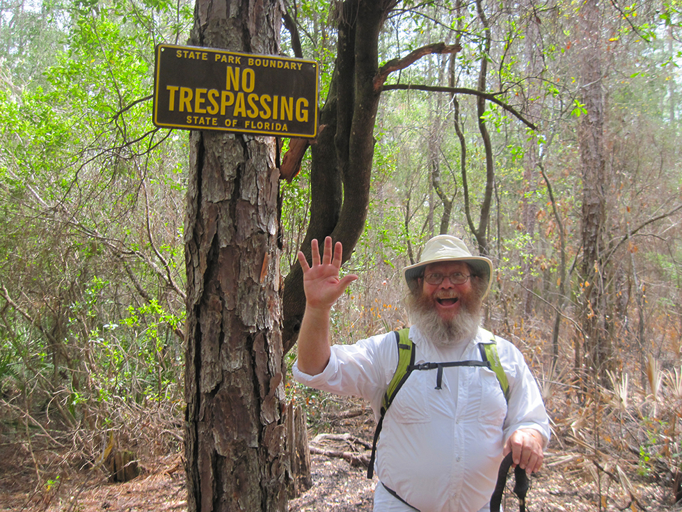 Trespassing sign