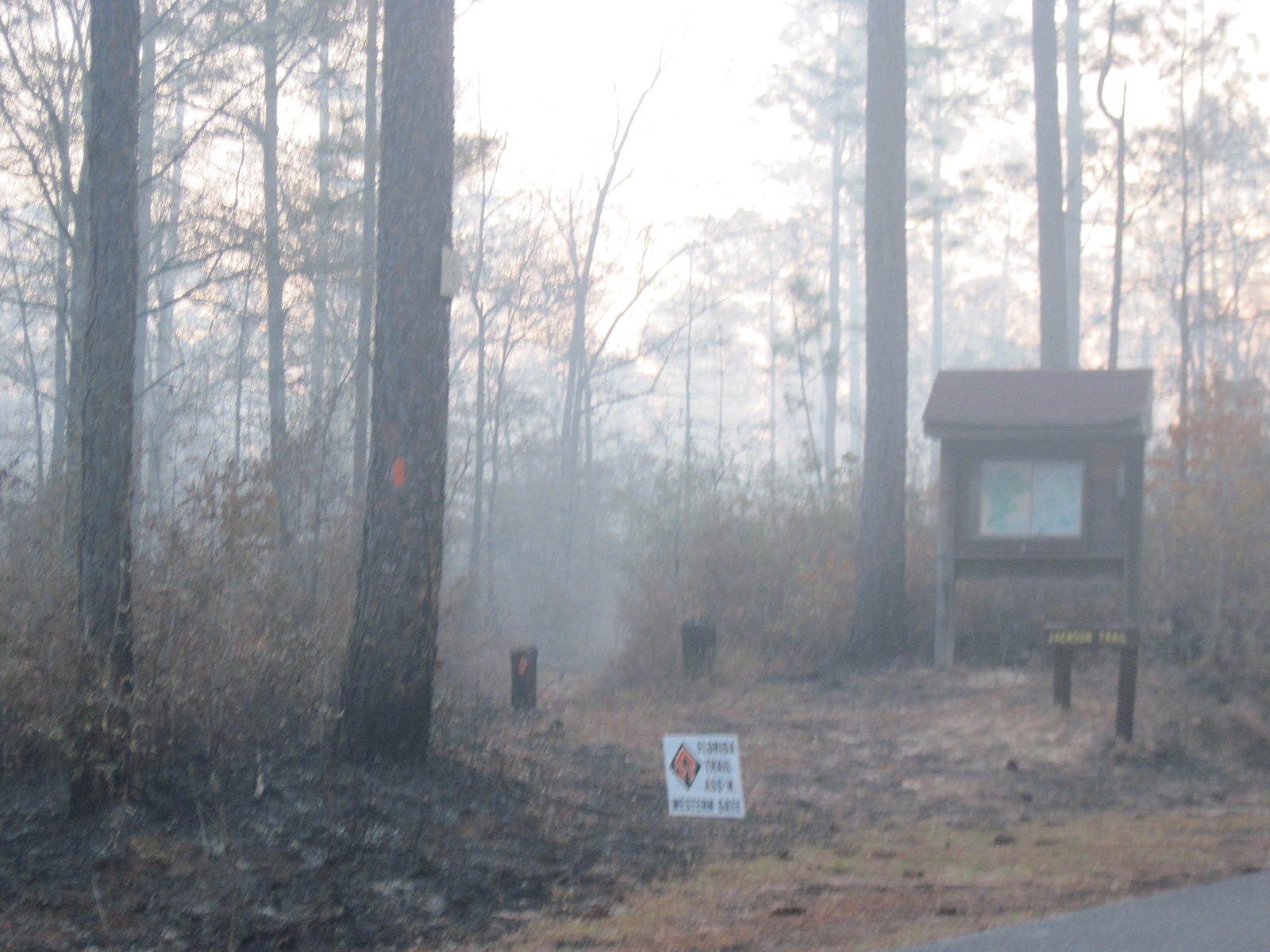 Smoke at the Jackson trailhead on Red Rock Rd