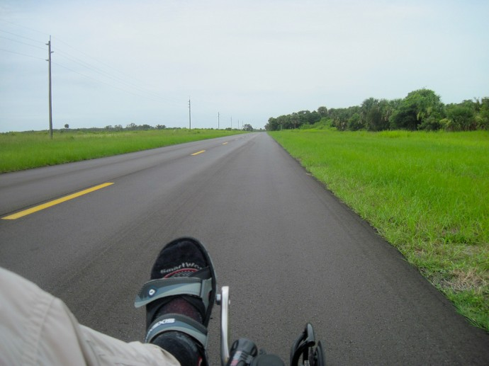 JK rides the trike through Merritt Island NWR