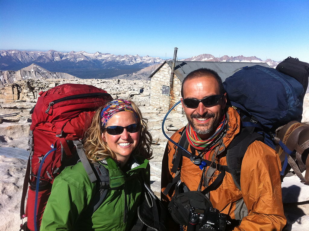 Ric & Jen at the summit of Mt Whitney (John Muir Project)