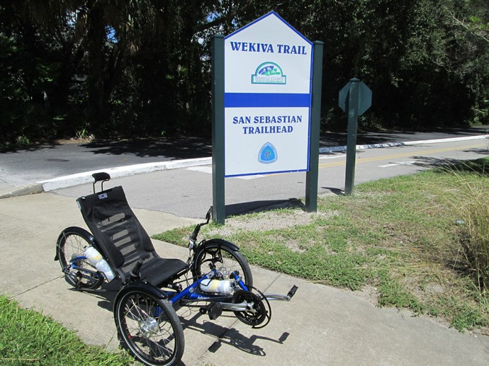 My trike at one end of the Seminole-Wekiva Trail