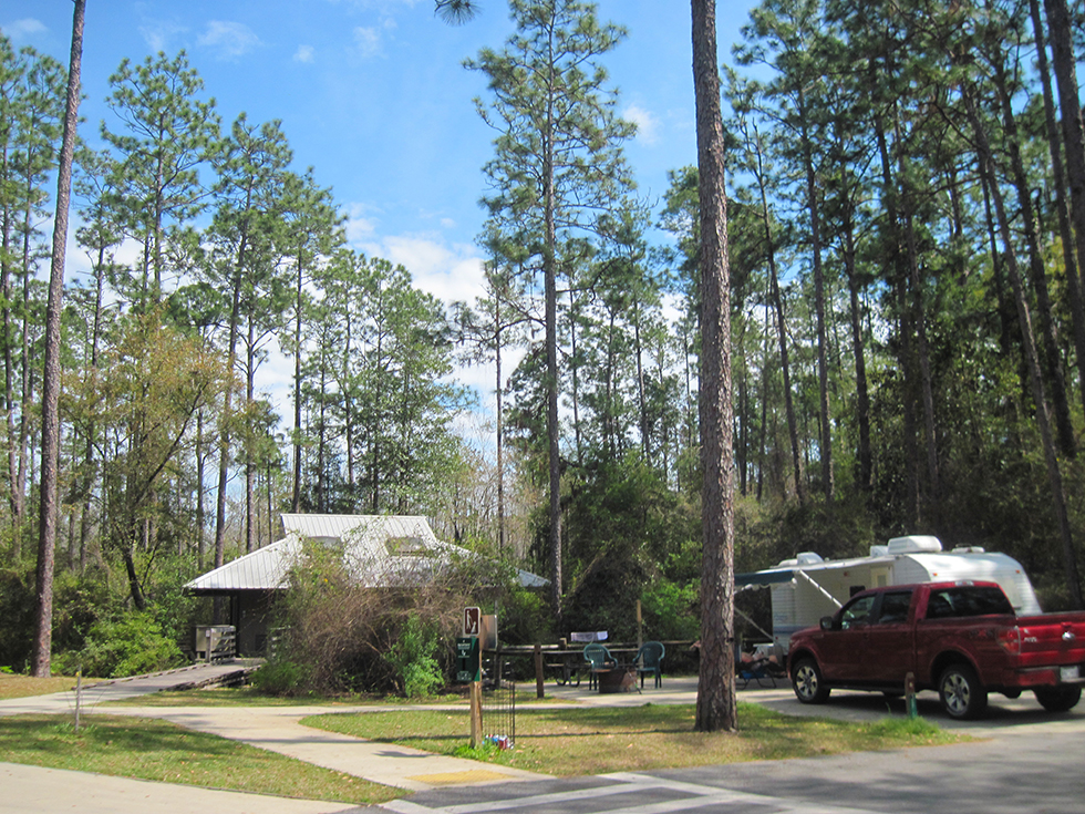 Bathhouse area in the campground